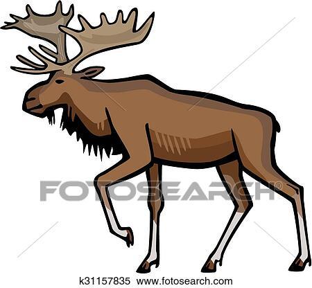 clipart of bull moose k31157835 search clip art illustration rh fotosearch com clip art mouse cursor clip art moose head