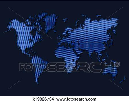 地囹kΈ�_剪贴画 - 世界地图 k19826734 - 搜寻边框,底纹背景及