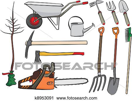 Clipart of gardening tools k8953091 search clip art for Gardening tools clipart