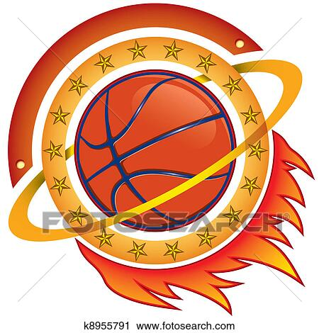 Clipart of basketball team logo k8955791 - Search Clip Art ...