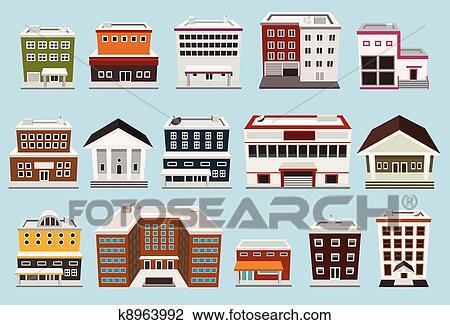 剪贴画 - 建筑物, 收集