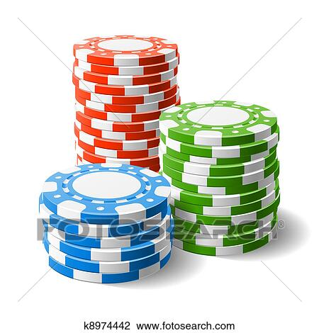 clipart of casino chips stacks k8974442 search clip art