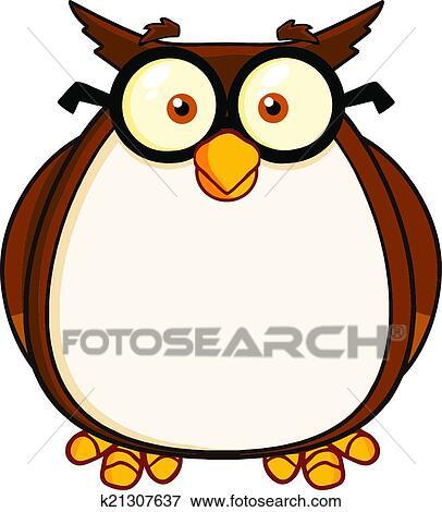 clip art of wise owl teacher cartoon character k21307637 search rh fotosearch com Teacher Bird Clip Art Teacher Apple