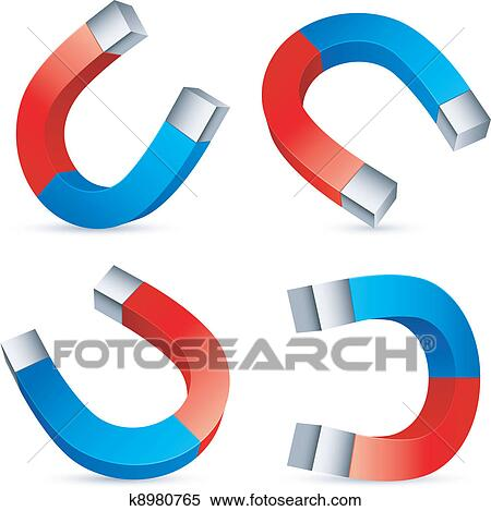 clipart of horseshoe magnets k8980765 search clip art rh fotosearch com