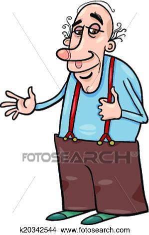 Clipart personne agee grand p re dessin anim illustration k20342544 recherchez des clip - Dessin grand pere ...