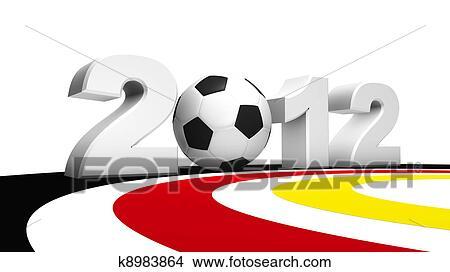 手绘图 - 足球, 欧元, 2012图片