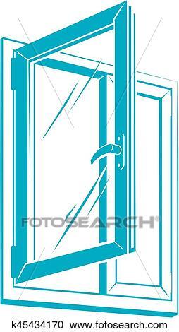 clipart of vector plastic window icon k45434170 search clip art rh fotosearch com clip art window screens clip art windows 2016