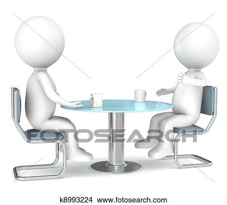 Büroarbeitsplatz clipart  Drawings of Discussion k8993224 - Search Clip Art Illustrations ...