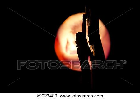 Stock Photograph of Side Profile of Jesus on the Cross ...