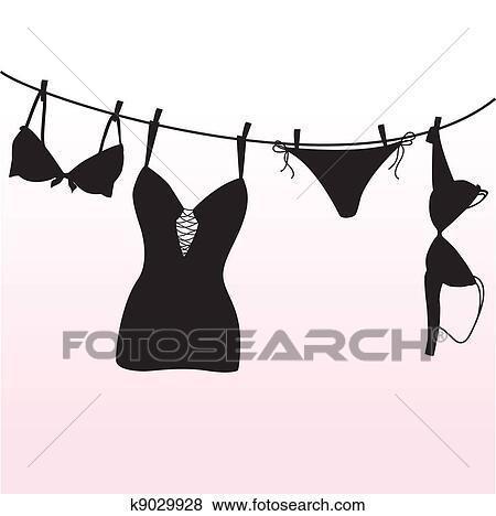 lingerie clip art free