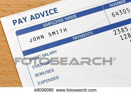 Banques de photographies payslip k9030090 recherchez - Credit carrefour papier a fournir ...