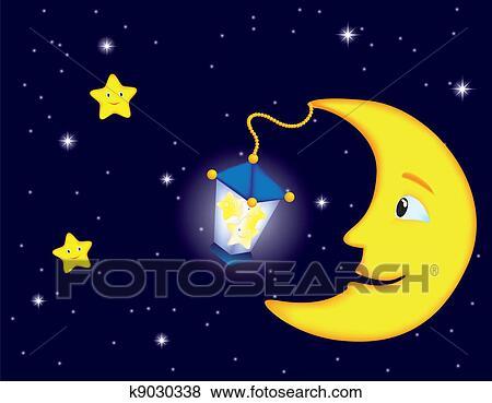 - 月光, 夜晚
