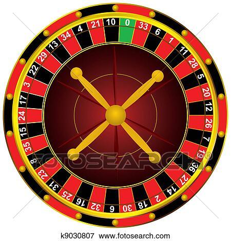 Clip Art Of Casino Roulette Wheel K9030807 Search