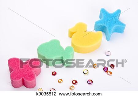 剪贴画 - 洗澡海绵