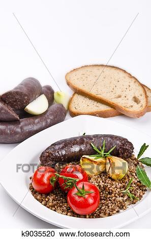 how to serve polish blood sausage