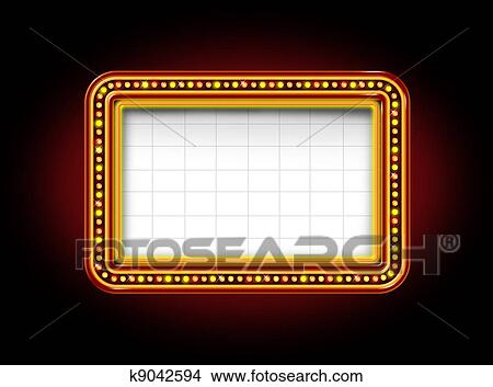 Drawings of Theater Marquee Sign k9042594 - Search Clip Art ...