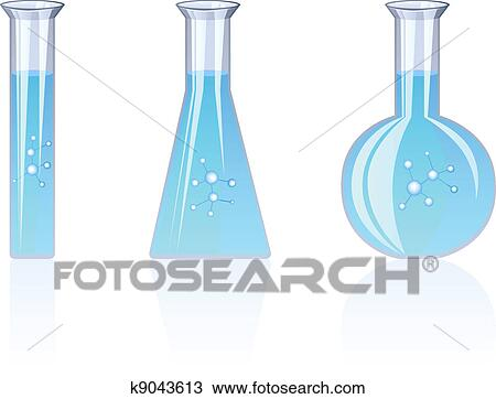 Clipart of Flasks k9043613 - Search Clip Art, Illustration Murals ...