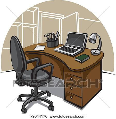 clipart of office work place k9044170 search clip art. Black Bedroom Furniture Sets. Home Design Ideas