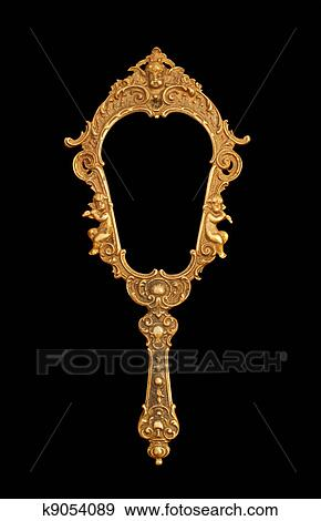 Stock Photograph of Vintage hand-held mirror k9054089 ... Vintage Hand Mirror Clipart