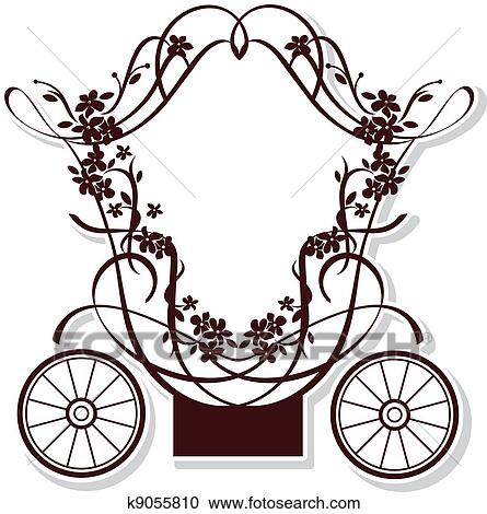 Clipart of fairytale carriage k9055810 - Search Clip Art ...