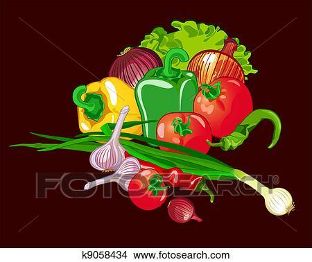 绘画/图画 - vegeatables