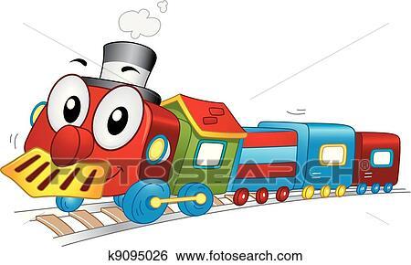 clip art of toy train mascot k9095026 search clipart toy train clip art free toy train clipart