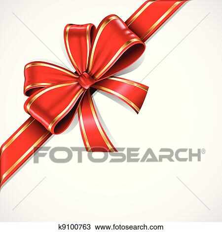 Clipart of red and gold vector gift bow and ribbon k9100763 clipart red and gold vector gift bow and ribbon fotosearch search clip art negle Image collections