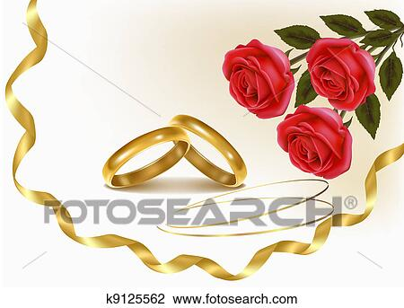 Clipart of Background with wedding rings k9125562 - Search Clip ...