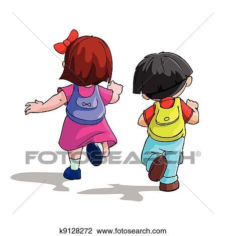 Little School Kids Kids Going to School