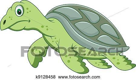 Clipart rigolote tortue dessin anim k9128458 - Image tortue rigolote ...