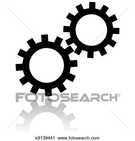 Clipart of settings icon k9139441 - Search Clip Art ...