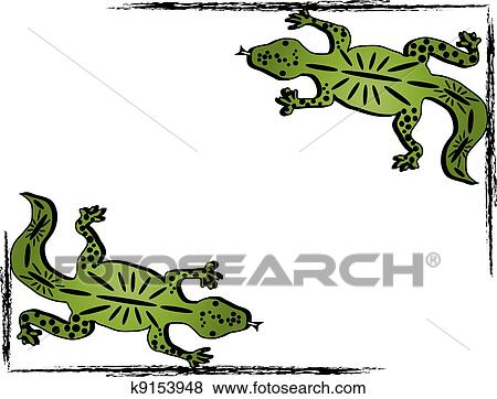 clip art of green lizard frame k9153948 search clipart rh fotosearch com lizard clipart black and white lizard clipart free