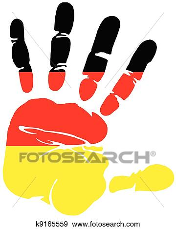 clip art of handprint for germany k9165559 search clipart rh fotosearch com german clip art images germany clipart map