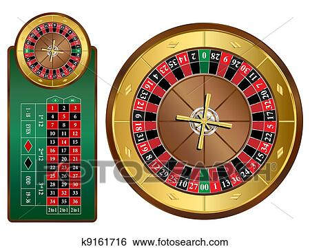 Clip Art of Roulette Wheel k9161716 - Search Clipart
