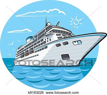 cruise ship clip arts