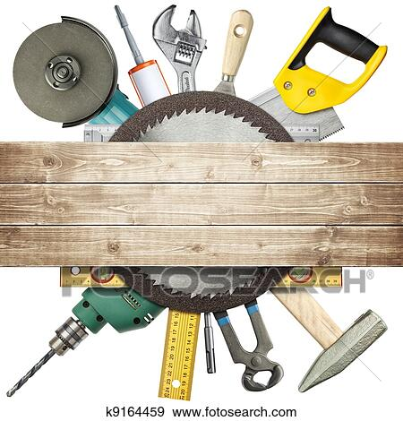 Stock Photograph of Construction tools k9164459 - Search ...