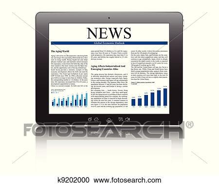 clipart pc tablette business article k9202000 recherchez des clip arts des. Black Bedroom Furniture Sets. Home Design Ideas