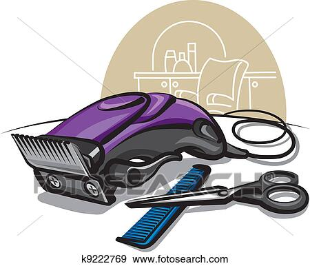 Clip Art of hair clipper k9222769 - Search Clipart ...