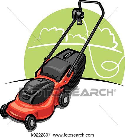 Lawn mower Clip Art EPS Images. 719 lawn mower clipart vector ...