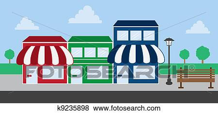 Clipart magasin d pouiller galerie marchande k9235898 for Ma galerie marchande