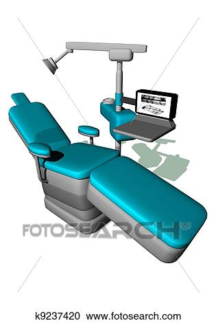 Stock Illustrations of Dental chair k9237420 - Search ...