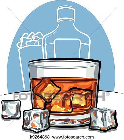 clip art glas scotch whiskey k9264858 suche clipart poster illustrationen zeichnungen und. Black Bedroom Furniture Sets. Home Design Ideas