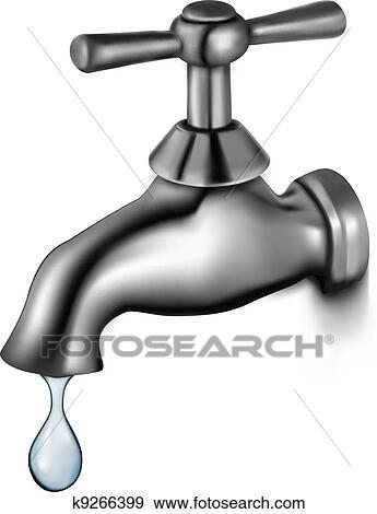 clipart robinet eau goutte k9266399 recherchez des cliparts des illustrations des. Black Bedroom Furniture Sets. Home Design Ideas