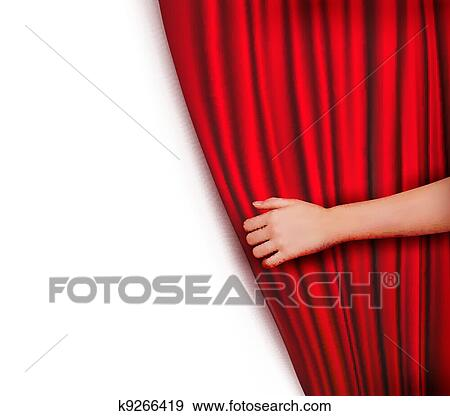 behind the curtain clipart