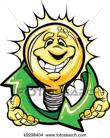 clipart of cartoon light bulb with smiling face holiding recycling rh fotosearch com Arrow of Light Award cub scouts arrow of light clipart
