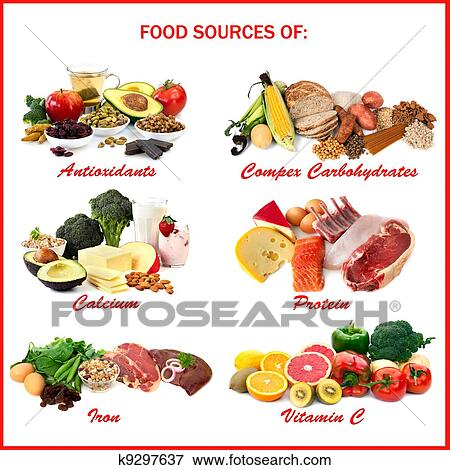 Picture of Food Sources of Nutrients k9297637 - Search