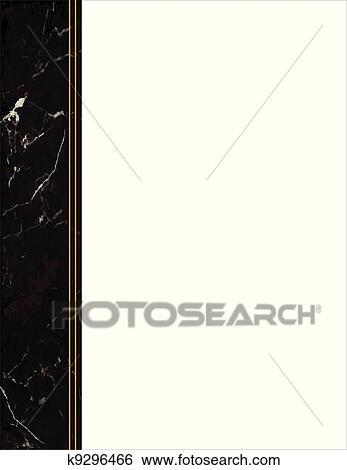 Clip Art Of Black Marble Side Frame K9296466 Search