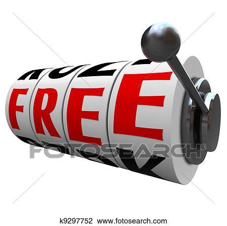 Slot machine gratis vector