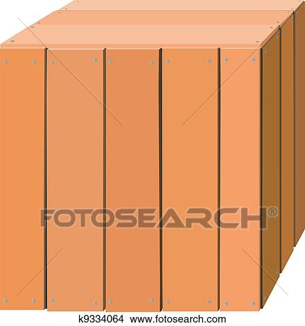 wooden box clipart. clipart illustration of a wooden box fotosearch search clip art murals