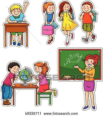 Clipart bambini scuola k9335711 cerca clipart for Scuola clipart